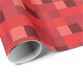 Red Pixelated Pattern Wrapping Paper