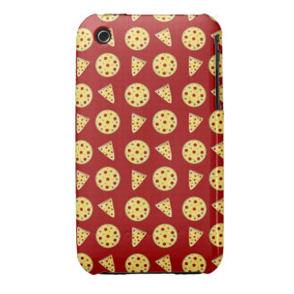 Red pizza pattern iPhone 3 cover