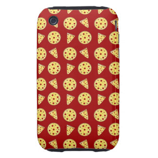 Red pizza pattern iPhone 3 tough cover