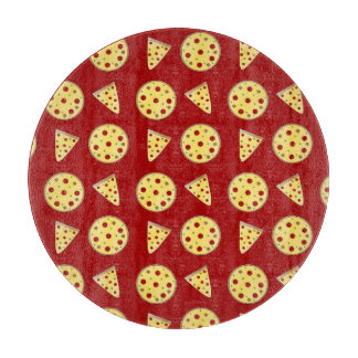 Red pizza pattern cutting boards