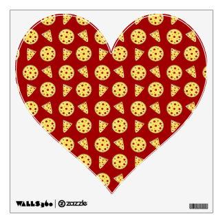 Red pizza pattern wall sticker