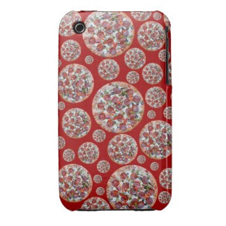 Red pizza pie iPhone 3 case