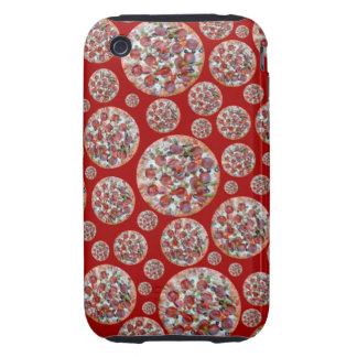 Red pizza pie iPhone 3 tough cases