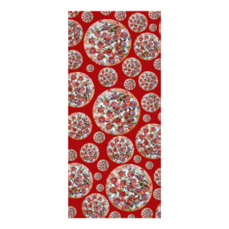 Red pizza pie rack card template