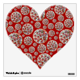 Red pizza pie wall decals