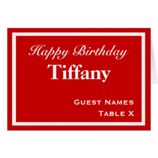Red Place Card - Customizable