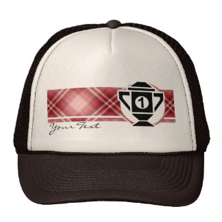 Red Plaid 1st Place Trophy Trucker Hat