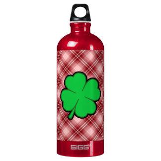 Red Plaid 4 Leaf Clover SIGG Traveler 1.0L Water Bottle