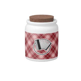 Red Plaid Accordion Candy Jars