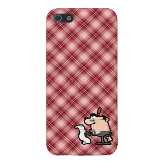 Red Plaid Accountant iPhone 5 Case