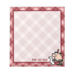 Red Plaid Accountant Memo Notepads
