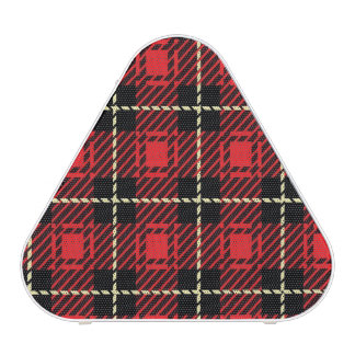 Red Plaid Background Bluetooth Speaker