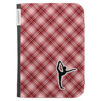 Red Plaid Ballet Kindle Folio Case