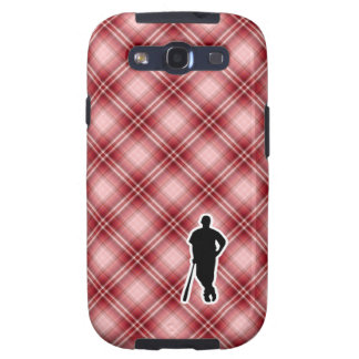 Red Plaid Baseball Player Galaxy SIII Cases