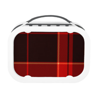 Red Plaid Black yubo Lunch Box Lunch Boxes