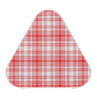 Red Plaid Bluetooth Speaker