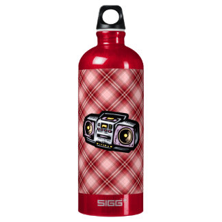 Red Plaid Boombox SIGG Traveler 1.0L Water Bottle