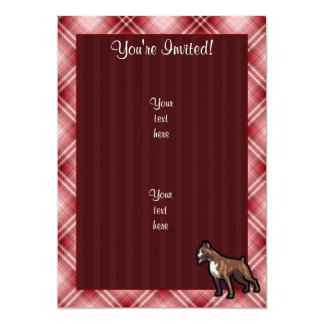 Red Plaid Boxer Card