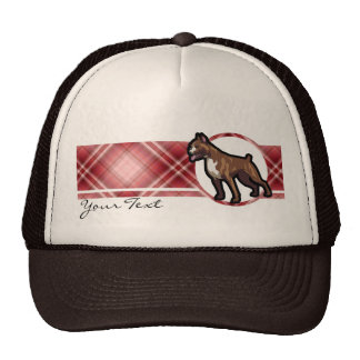 Red Plaid Boxer Mesh Hats