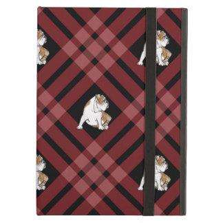 Red Plaid Bulldog iPad Air Cover