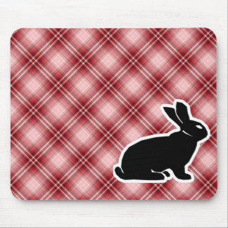 Red Plaid Bunny Mousepads