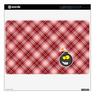 Red Plaid Cartoon Bomb Skins For The MacBook Air