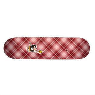 Red Plaid Cartoon Caveman Custom Skateboard