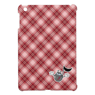 Red Plaid Cartoon Music Note Case For The iPad Mini