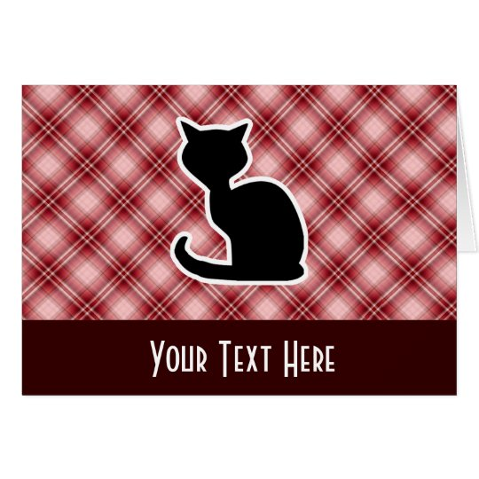 Red Plaid Cat Card