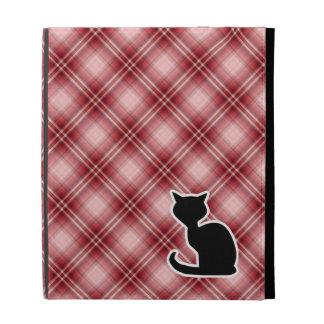 Red Plaid Cat iPad Case