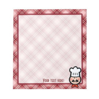Red Plaid Chef Memo Note Pads