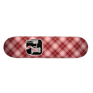 Red Plaid Chemistry Skateboard Decks