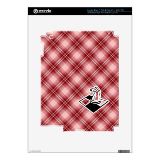 Red Plaid Chess Skin For iPad 3