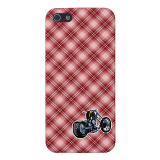 Red Plaid Chopper Cases For iPhone 5