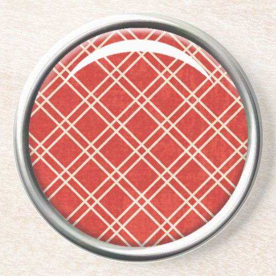 Red Plaid Coaster