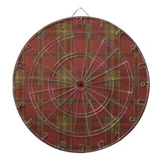 Red Plaid Dart Board