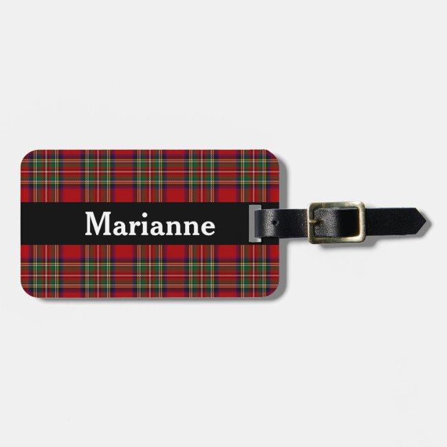 Red Plaid Design Luggage Tags