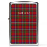 Red Plaid Design Zippo Lighter