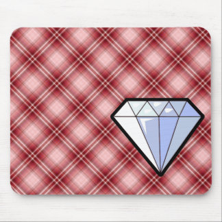 Red Plaid Diamond Mousepads