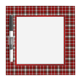 Red Plaid Dry Erase Board with Pen
