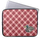 Red Plaid Duck Computer Sleeves