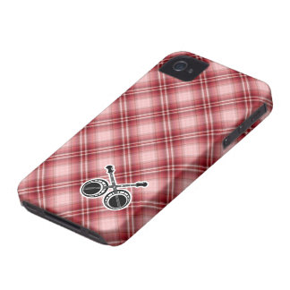 Red Plaid Dueling Banjos iPhone 4 Covers