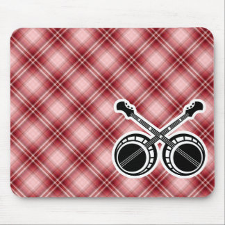 Red Plaid Dueling Banjos Mouse Pad