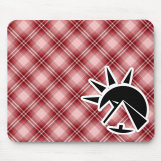 Red Plaid Egyptian Pyramid Mouse Pads