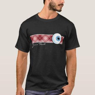 Red Plaid Eyeball T-Shirt