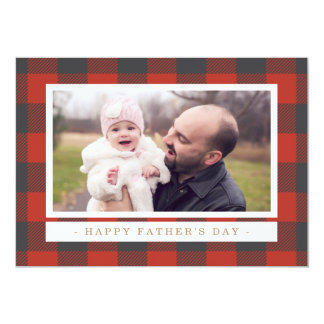 Red Plaid Father's Day Card