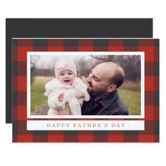 Red Plaid Father's Day Invitation