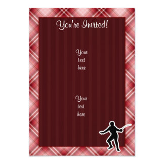 Red Plaid Fencing Card