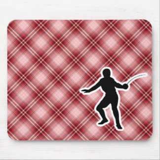 Red Plaid Fencing Mousepads