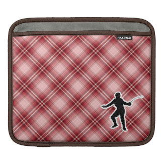 Red Plaid Fencing Sleeve For iPads